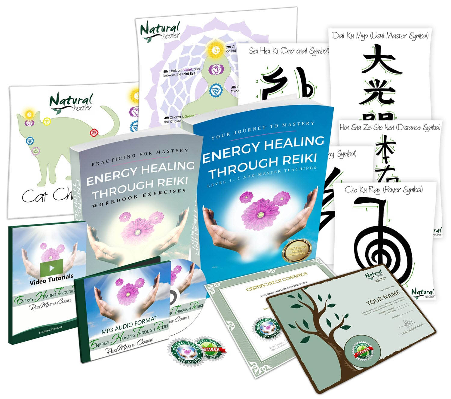 Levels 1, 2 and Reiki Master Certification Course Online