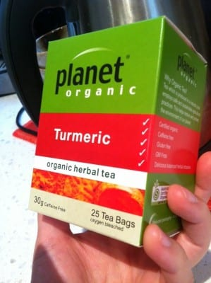 Inflammation reducing Turmeric tea