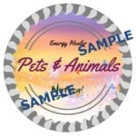 Pets & Animals Energy Healer SAMPLE SEAL