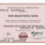 Chakra Healing Certificate (PDF)
