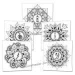 5 Reiki Symbols Mandala Posters (PDF)