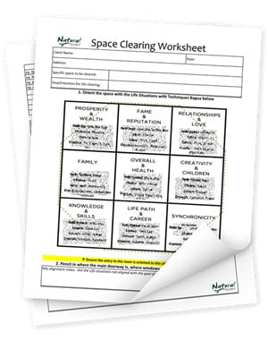 Space Clearing Worksheet (PDF)